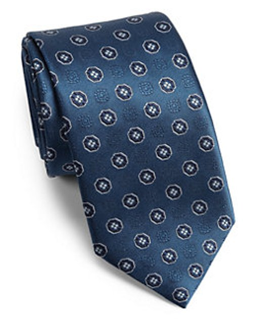 Medallion Silk Tie by Brioni Circle in Crazy, Stupid, Love.