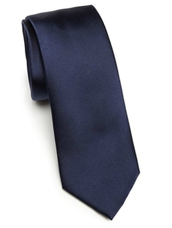 Solid Silk Tie by Saks Fifth Avenue Collection in Quantico