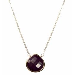Leandra Purple Turquoise Necklace by Brooklyn Designs in Arrow