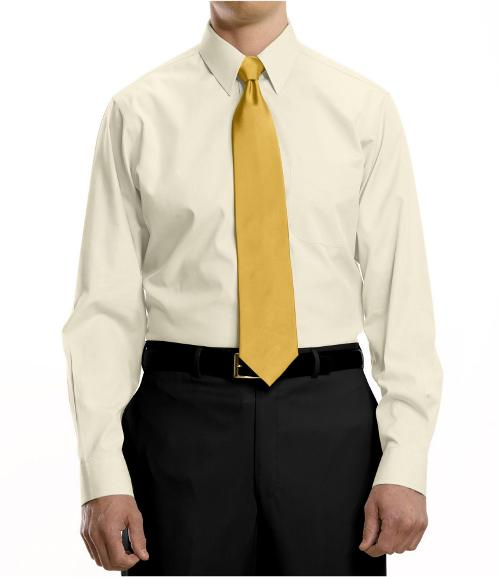 Traveler Pinpoint Solid Point Collar Dress Shirt by Jos. A. Bank in Anchorman 2: The Legend Continues