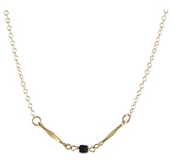 Single Stone Necklace by Peggy Li in Arrow