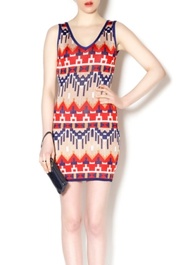 Aztec Jacquard Dress by Wow Couture in Inherent Vice