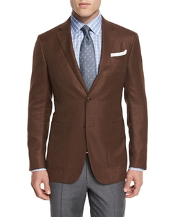 Wool Two-Button Blazer by Ermenegildo Zegna in Modern Family
