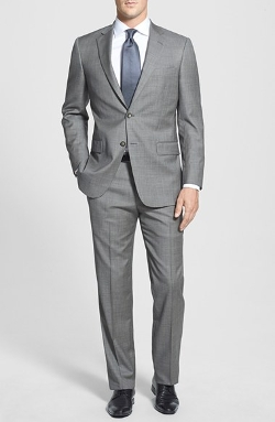 'New York' Classic Fit Wool Suit by Hart Schaffner Marx in Self/Less