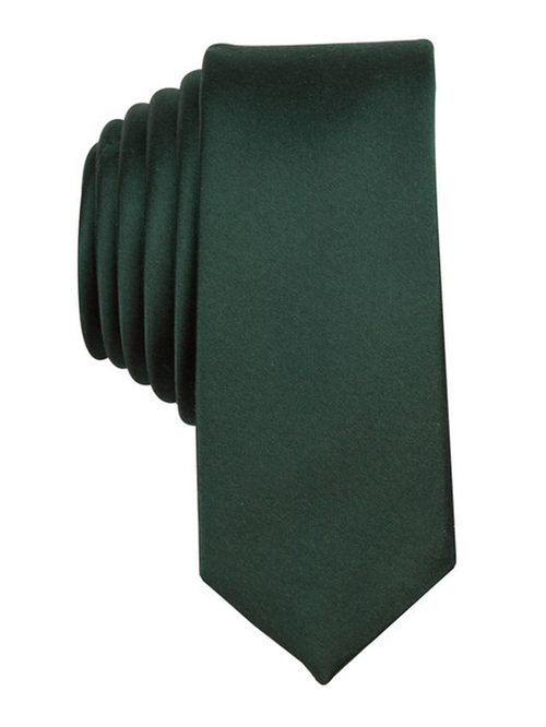 Solid Satin Tie by Original Penguin in Black Mass