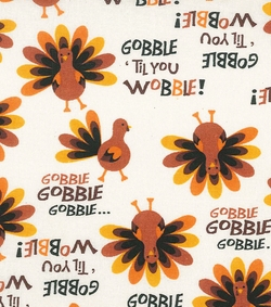 Fabric-Gobble Til You Wobble Pajama Set by Autumn Inspirations in New Girl