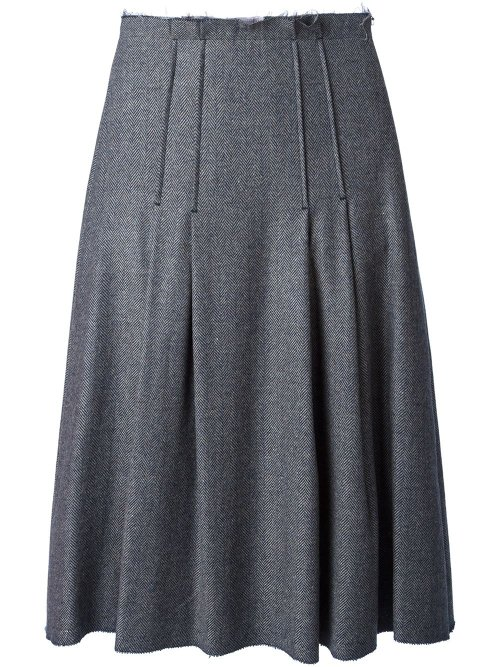Pleated Godet Hem Skirt by Erika Cavallini Semi Couture in (500) Days of Summer