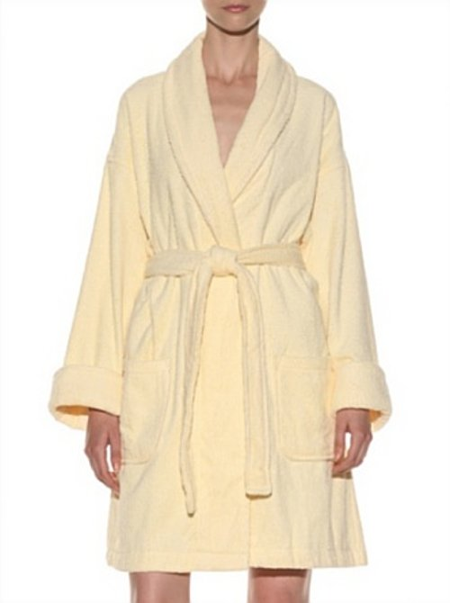 Solid Terry Loop Bathrobe by Aegean in Neighbors