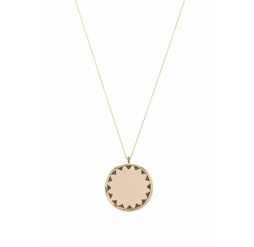 Incan Sun Coin Pendant Necklace by House of Harlow 1960 in La La Land
