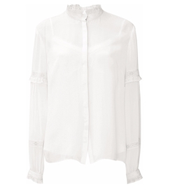 Chalk Lace Collar Shirt by Needle & Thread in Keeping Up With The Kardashians