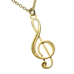 Treble Clef Gold-dipped Pendant Necklace by From War to Peace in Pitch Perfect 2