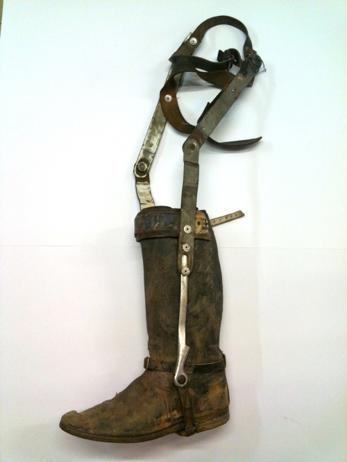Custom Made Replicated Rossiter Boots (Max Rockatansky) by Jenny Beavan (Costume Designer) in Mad Max: Fury Road