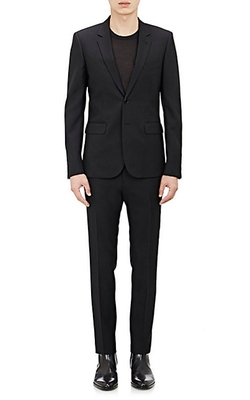 Wool Gabardine Two-Button Suit by Saint Laurent in Billions