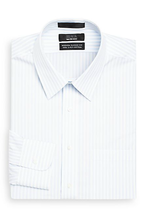 Classic Stripe Dress Shirt by Saks Fifth Avenue Black in The Judge
