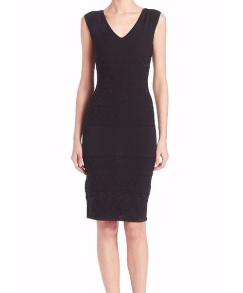 Sleeveless Knit Sheath Dress by Versace Collection in Empire