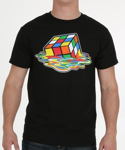 Melting Rubik's Cube T-Shirt by Off-Brand in The Big Bang Theory