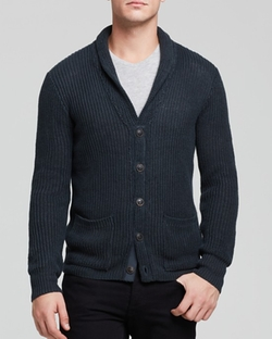 Stitch Shawl Collar Cardigan by John Varvatos in Scream Queens
