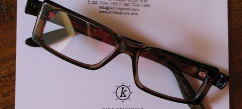 Sculpture Collection 'Loi' Eyeglasses by Kirk Originals in The Dark Knight Rises