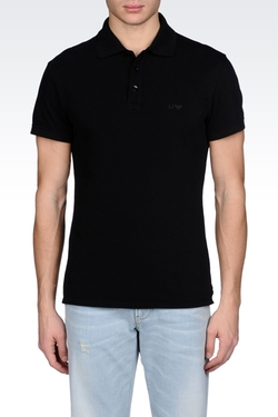 Classic Polo Shirt in Cotton Pique by Armani Jeans in Ballers