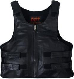 Bullet Proof Style Leather Vest by Hot Leathers in Transcendence