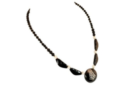Deco Silvered French Jet Necklace by Neil Zevnik in Pretty Little Liars