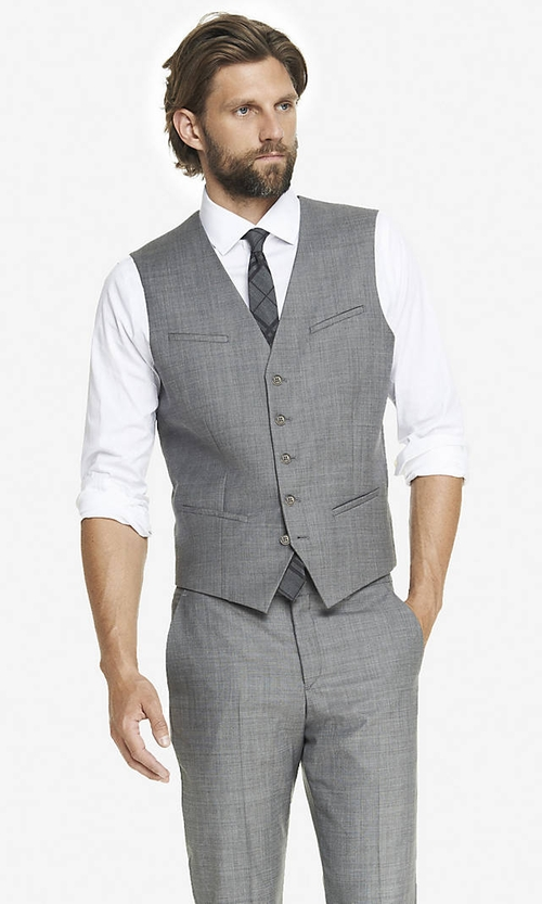 Micro Twill Suit Vest by Express in The Big Bang Theory - Season 9 Episode 4
