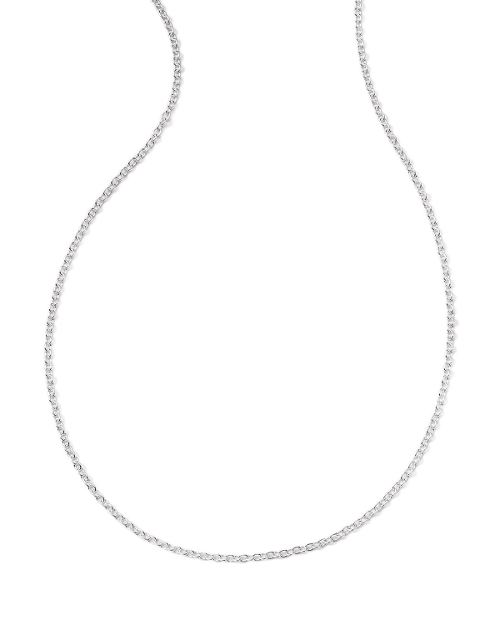 Silver Thin Charm Chain Necklace by Ippolita in Poltergeist