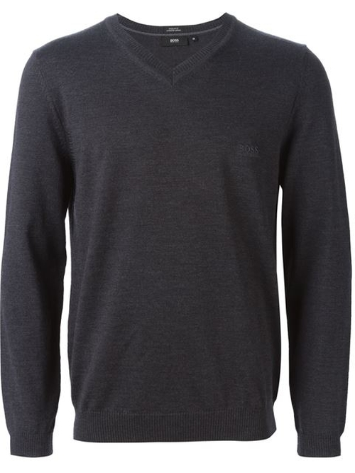 V-Neck Sweater by Hugo Boss in Quantico
