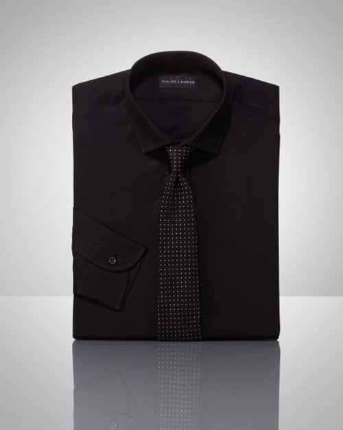 Tailored Solid Poplin Shirt by Ralph Lauren Black Label in The Man from U.N.C.L.E.