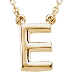 Block Initial Necklace by Banvari in Pretty Little Liars
