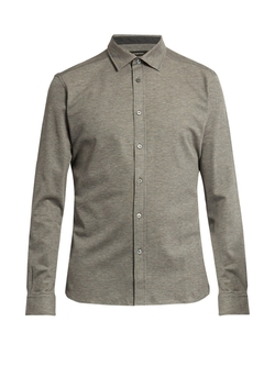 Long-Sleeved Cotton Polo Shirt by Ermenegildo Zegna in Collateral Beauty