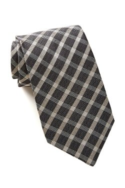 Woven Plaid Silk Tie by Star USA By John Varvatos in The Boy Next Door