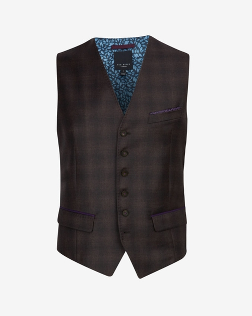 Checked Wool Waistcoat by Ted Baker in The Blacklist - Season 3 Episode 13