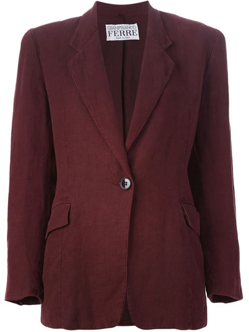 Single Button Blazer by Gianfranco Ferre Vintage in The Good Wife - Season 7 Episode 3