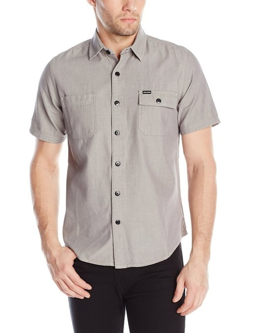 Paxton Short Sleeve Shirt by Volcom in Cut Bank