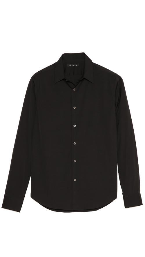 Slyvain Solid Dress Shirt by Theory in Savages
