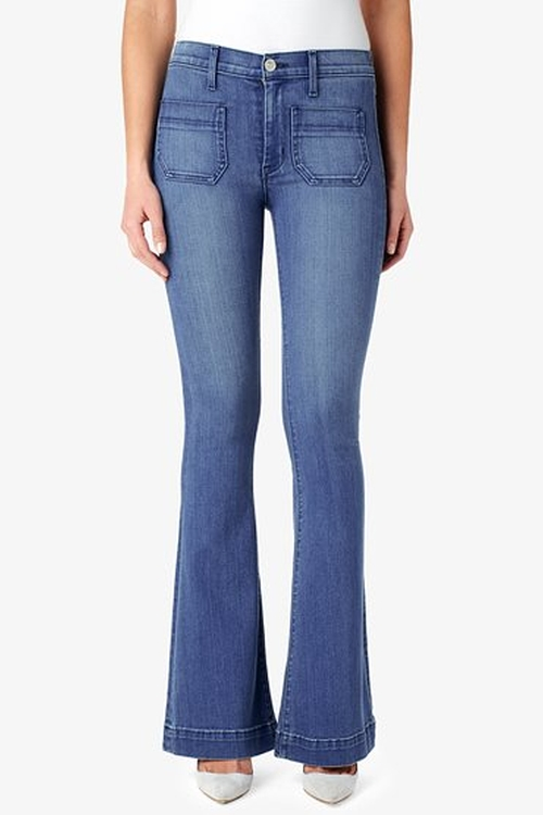 Taylor High Waist Flare Jeans by Hudson in Scream Queens