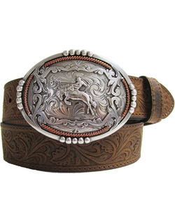 Western Tooled Bucn' Bronc Rider Belt by Andwest in The Big Bang Theory