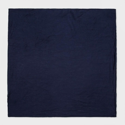 Men's Navy Plain Washed Pocket Square by Paul Smith in Our Brand Is Crisis