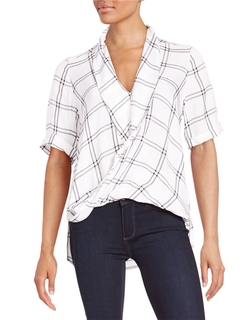 Checked Drape Top by French Connection in The Flash