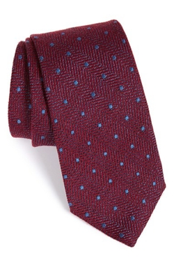 Dunella Dot Wool & Silk Tie by John W. Nordstrom in Brooklyn Nine-Nine