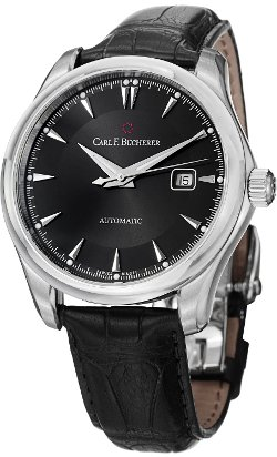 Manero Auto Date Men's Black Leather Strap Automatic Watch by Carl F. Bucherer in John Wick