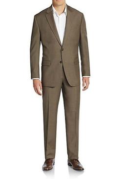 Regular-Fit Sharkskin Wool Suit by Lauren Ralph Lauren in Love Actually