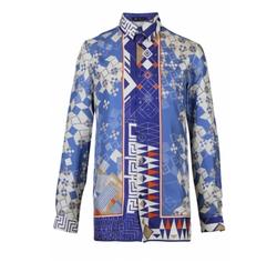 Domino Foulard Silk Shirt by Versace in Empire