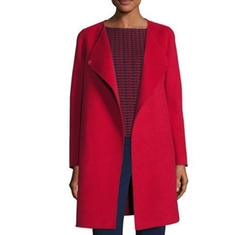 Double-Faced Wool Wrap Coat by Armani Collezioni in Supergirl