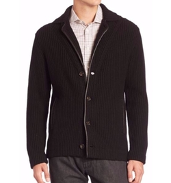 Solid Wool Cardigan by Luciano Barbera  in Empire