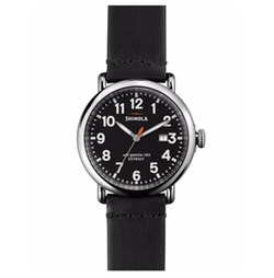 Runwell Leather Watch by Shinola in Billions