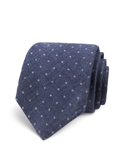 Dotted Wool Skinny Tie by Todd Snyder in Supergirl