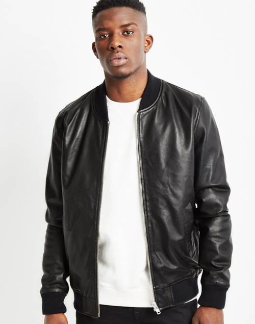 Leather Bomber Jacket by The Idle Man  in Popstar: Never Stop Never Stopping