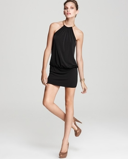 Jersey Blouson Halter Dress by Laundry by Shelli Segal in Sleeping with Other People